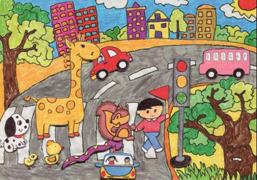 我的理想世界简笔画-一直以来,一汽丰田十分重视与儿童的沟通,全面关心他们的健康成长